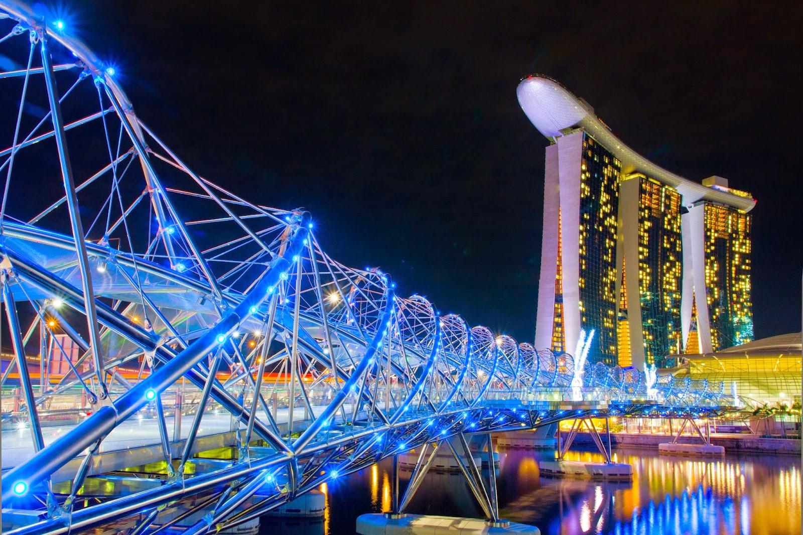 Cầu Helix, Marina Bay, Singapore
